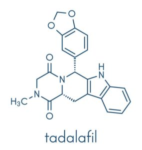 Tadalafil molekyl