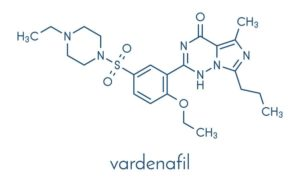 Vardenafil molekyl
